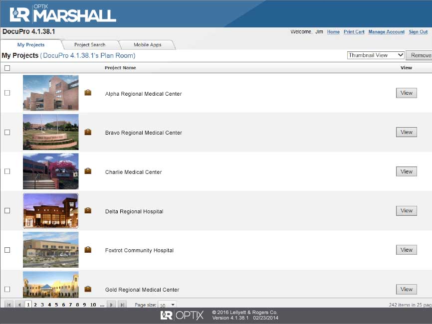 View documents and floor plans for all your facilities from one dashboard.